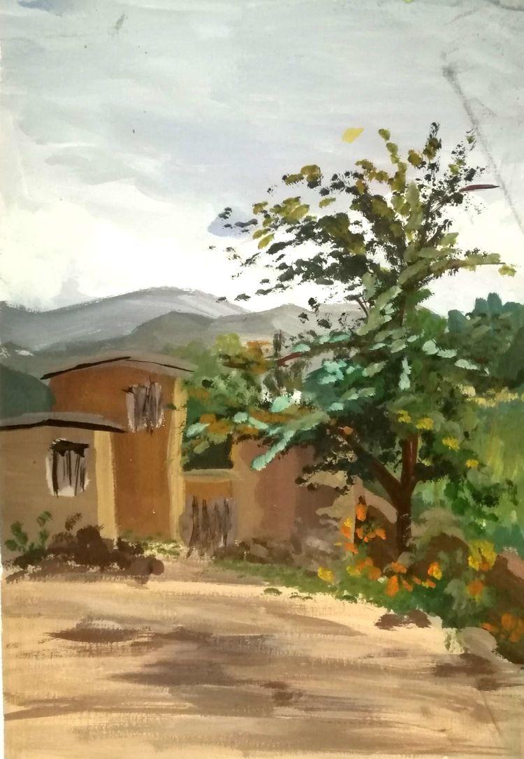 绘画素材风景图片秋季