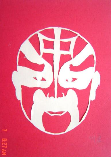 京剧脸谱是中国传统戏曲中